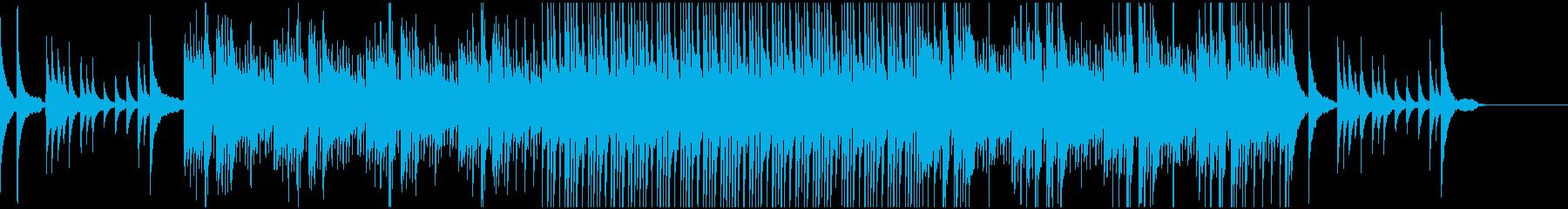 春の暖かな訪れを表現したピアノサウンドの再生済みの波形