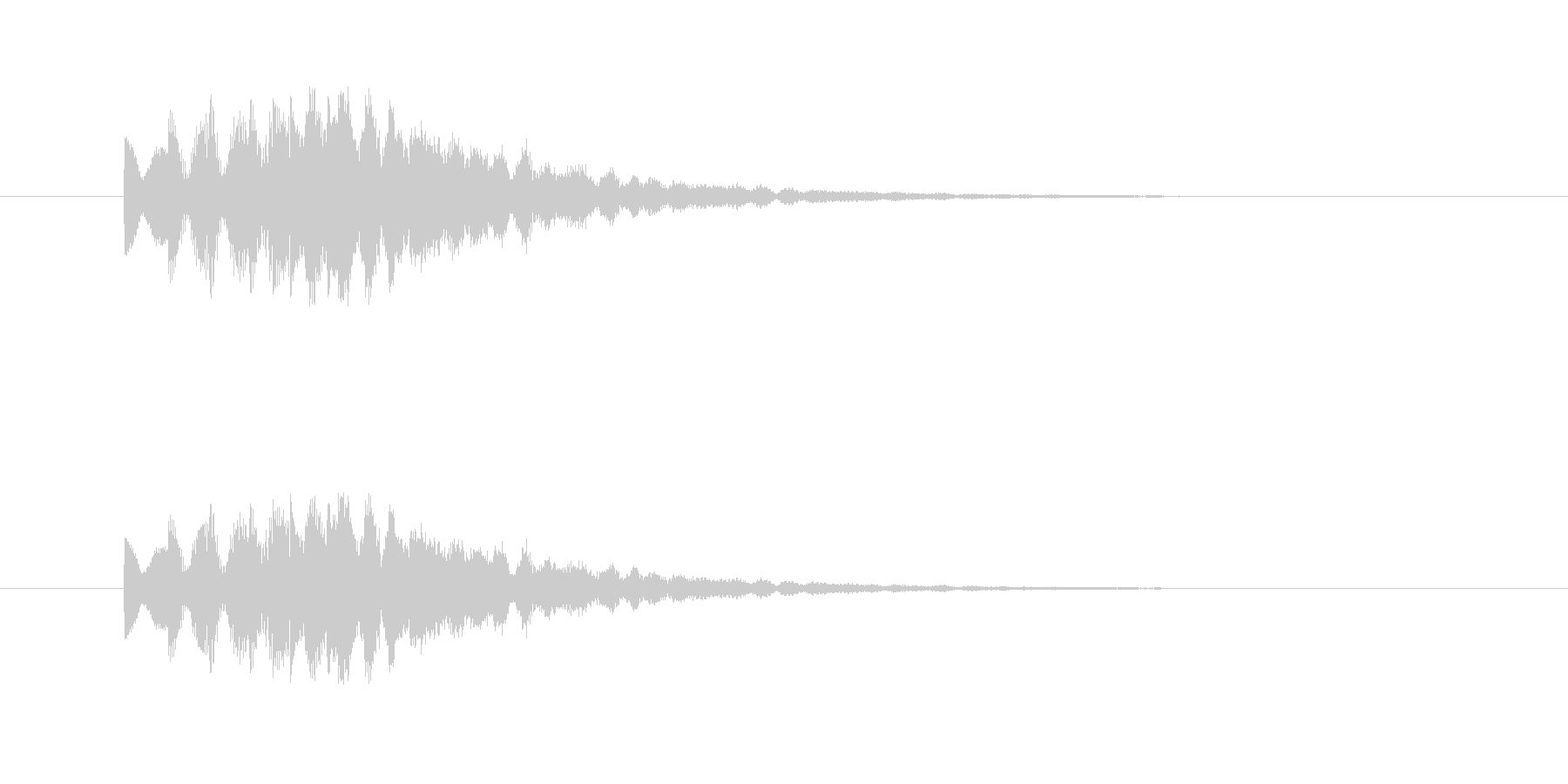 ティロリロリン(明るく綺麗なタイトル音)の未再生の波形