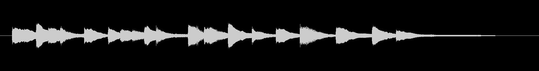 ピアノ 切ないシンプルなアルペジオ3の未再生の波形