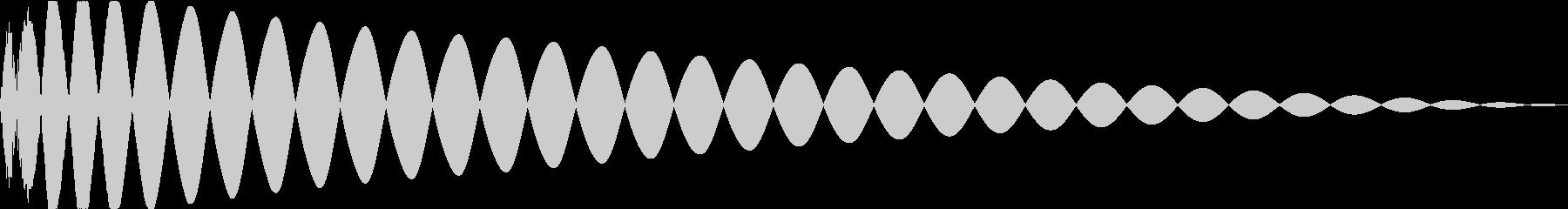 DTM Kick 96 オリジナル音源の未再生の波形