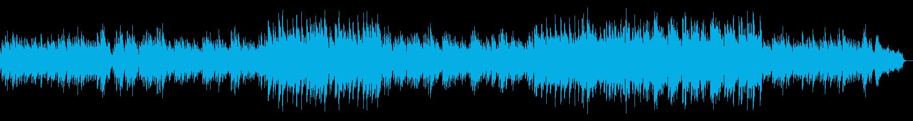 ほのぼのした雰囲気のピアノソロの再生済みの波形
