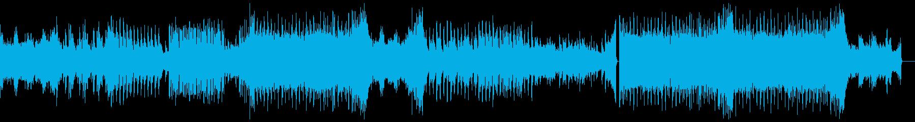 切ない雰囲気のあるピアノEDMの再生済みの波形