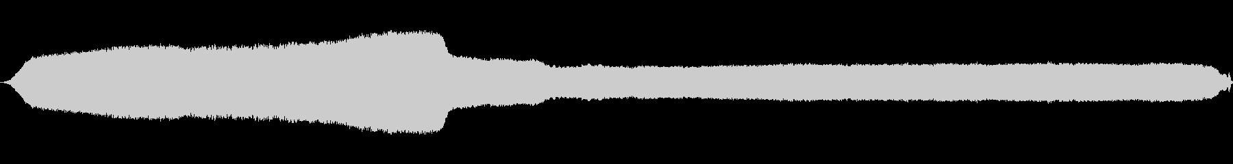 ホイッスルトレイン弱い長い打撃waの未再生の波形
