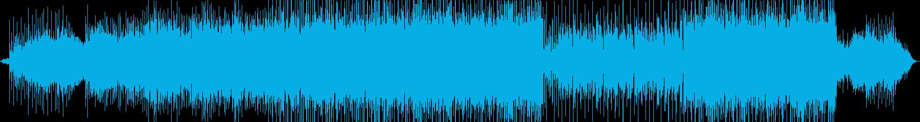 マイナーでブルージーなシンセロックの再生済みの波形