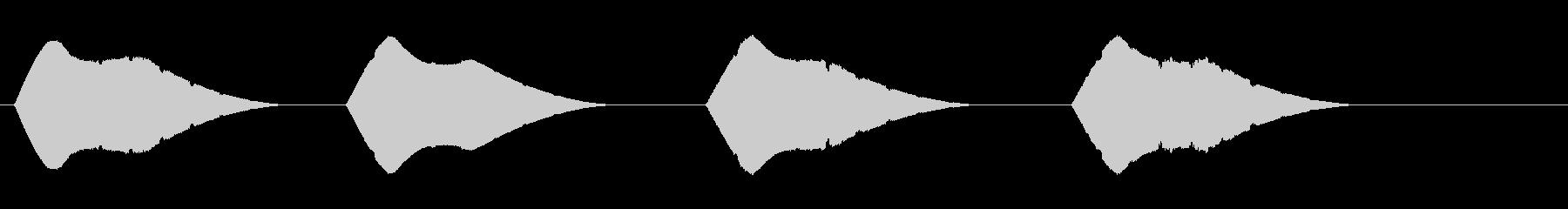 トーンパルススイープジップアップwavの未再生の波形