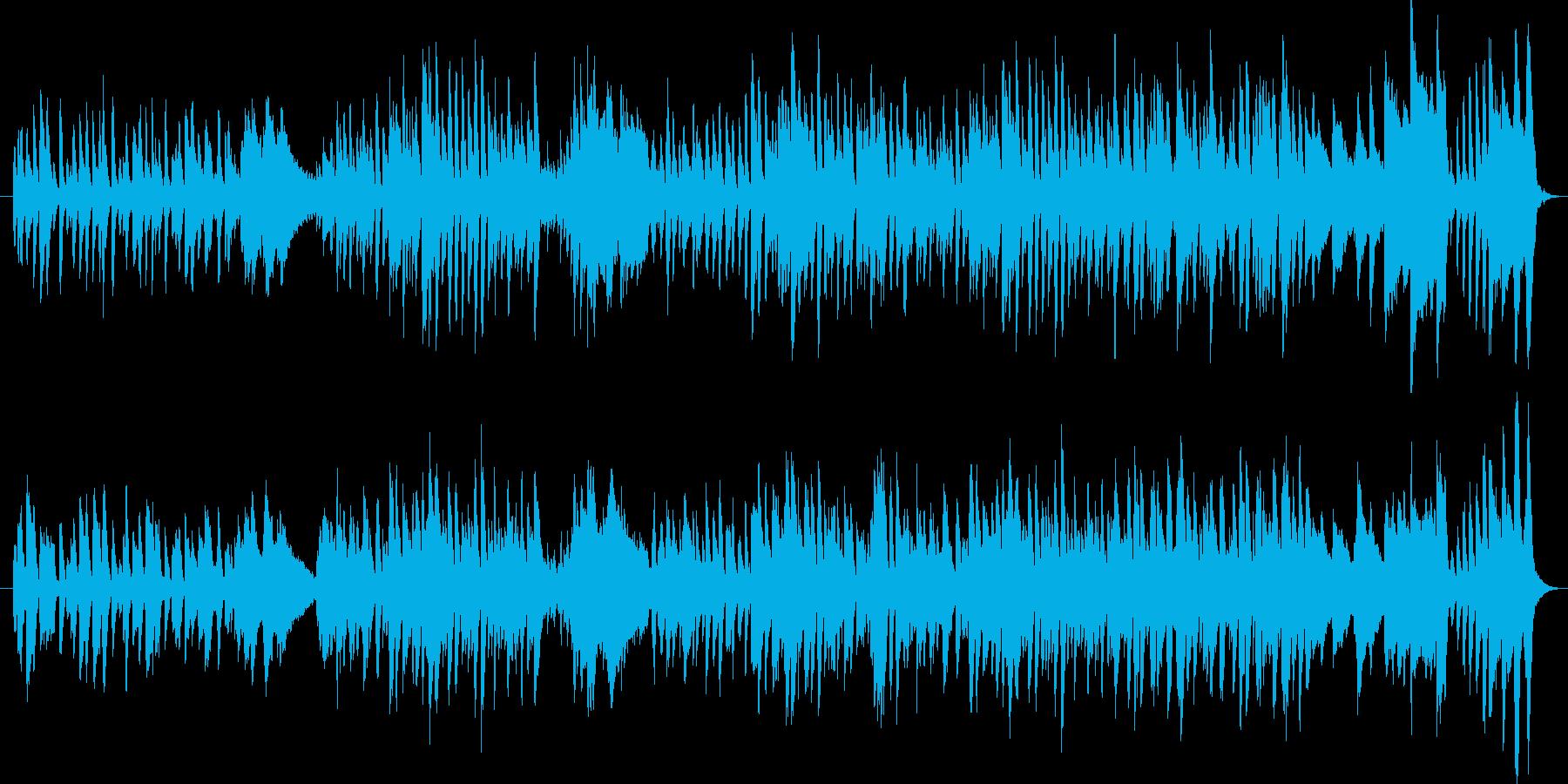 コミカルなピアノソロ曲の再生済みの波形