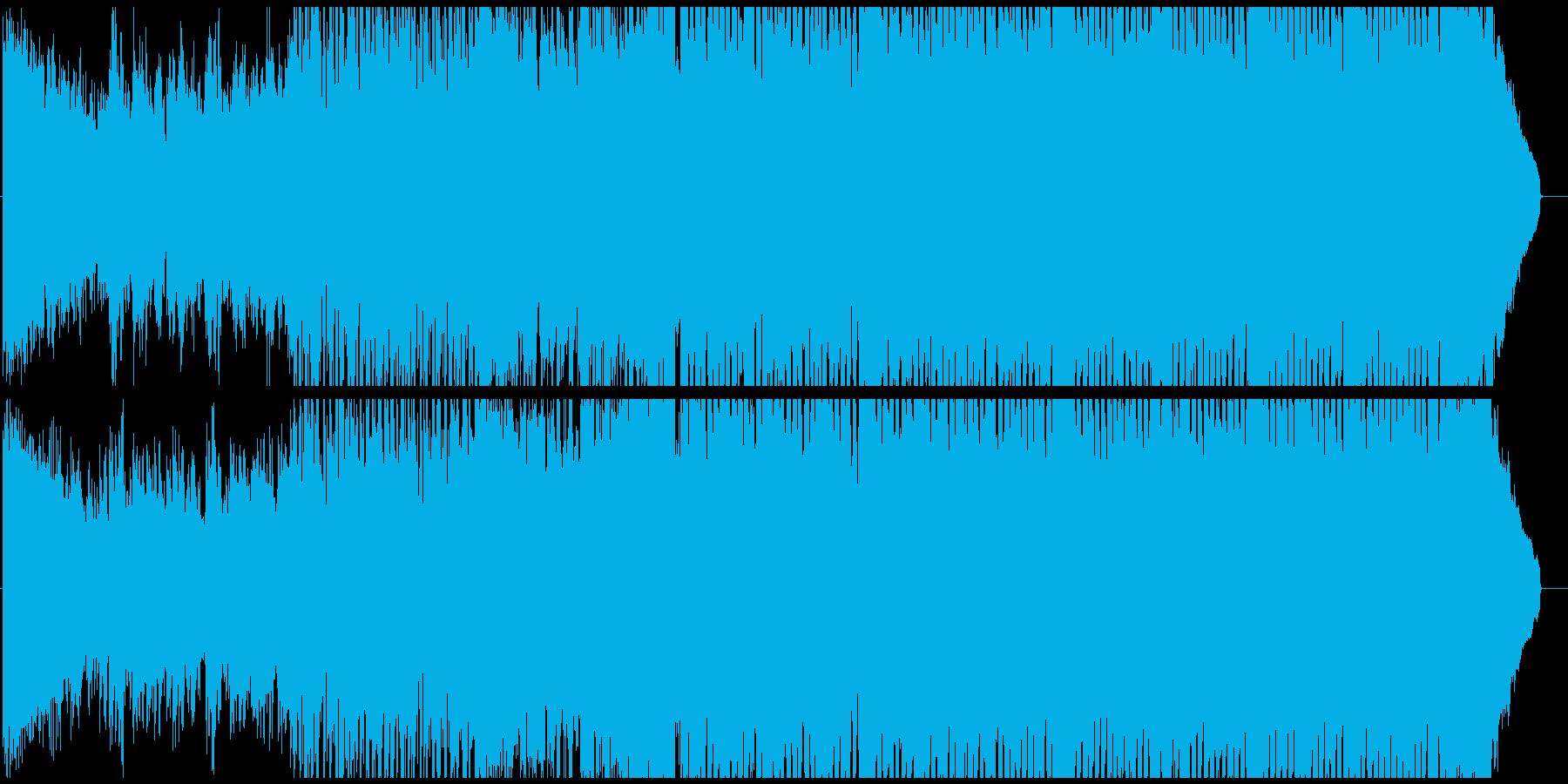 一夏の思い出に浸るスローテンポハウスの再生済みの波形