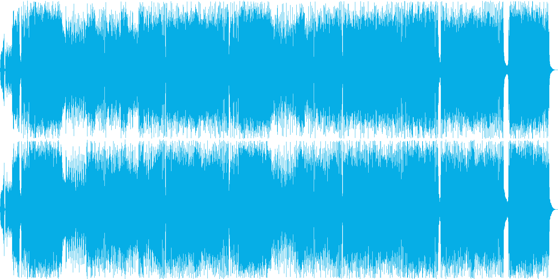 テンション上がるポップなアニソン風BGMの再生済みの波形