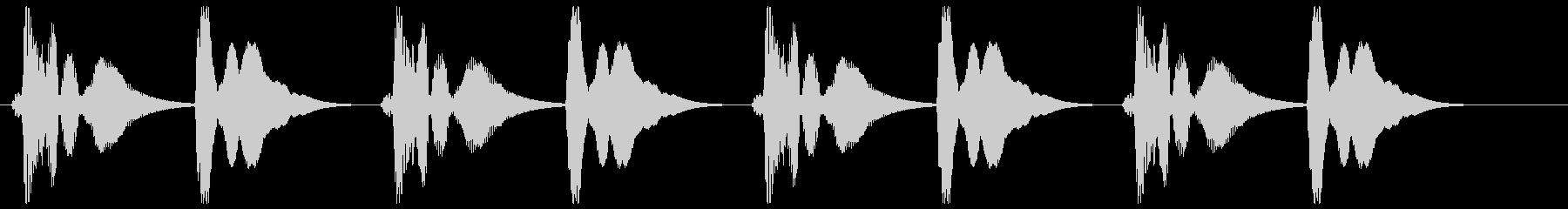 プンポンプンポン(リズミカル)の未再生の波形