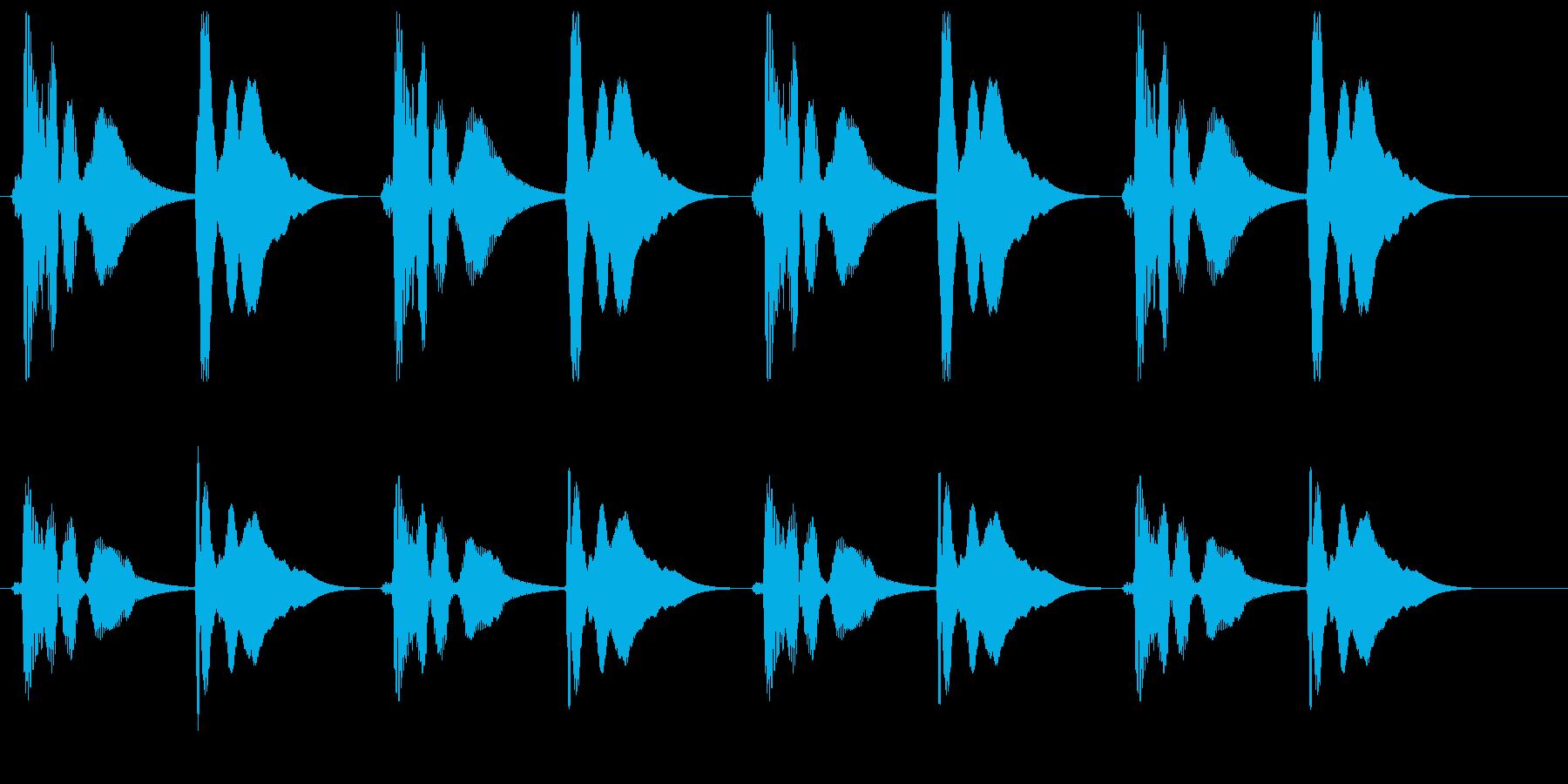 プンポンプンポン(リズミカル)の再生済みの波形