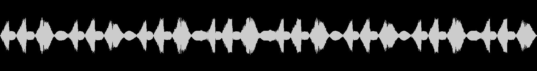 不安を感じさせる奇妙な機械音の未再生の波形