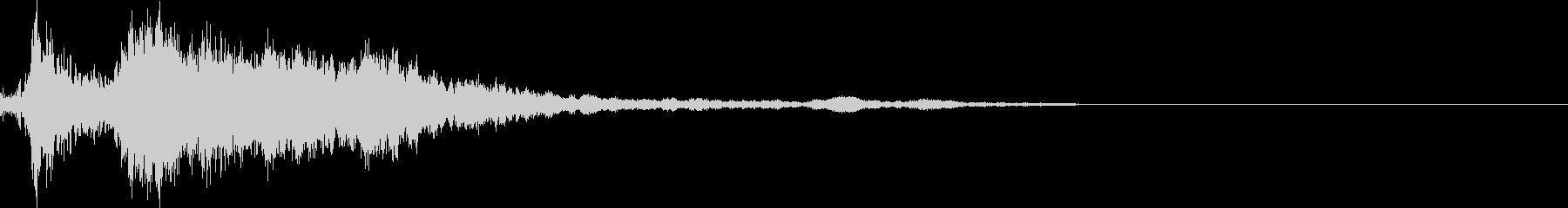 FPS リアル系カッコいいUIボタン音2の未再生の波形