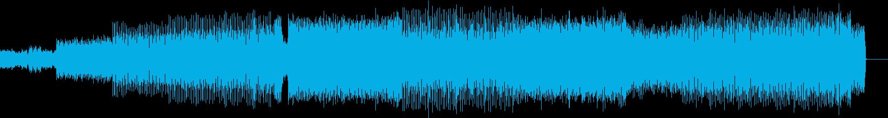 可愛い雰囲気のEDMの再生済みの波形