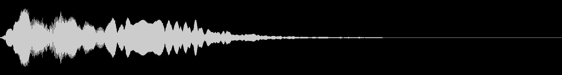 忍者登場 RPG ゲーム  尺八の未再生の波形