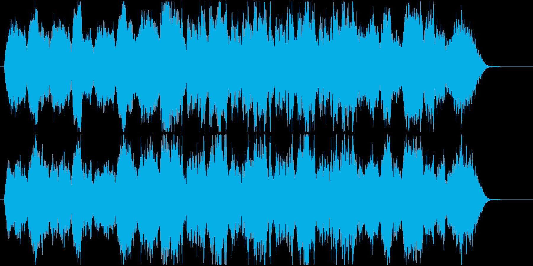 暗いストリングスとリズムの再生済みの波形