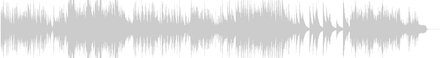 可愛いピアノのメロディーの音楽の未再生の波形