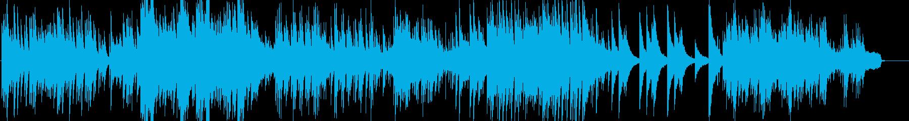 可愛いピアノのメロディーの音楽の再生済みの波形