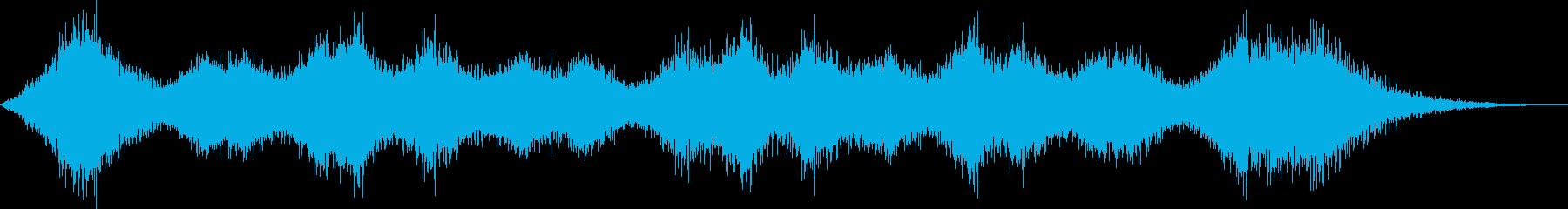 ヒュウ...。風の音(台風・吹雪・長め)の再生済みの波形