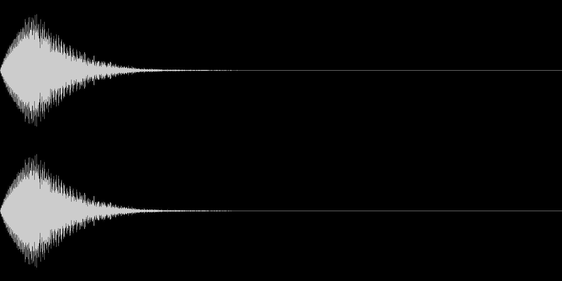 パワーダウン/ワープ/場面転換の未再生の波形