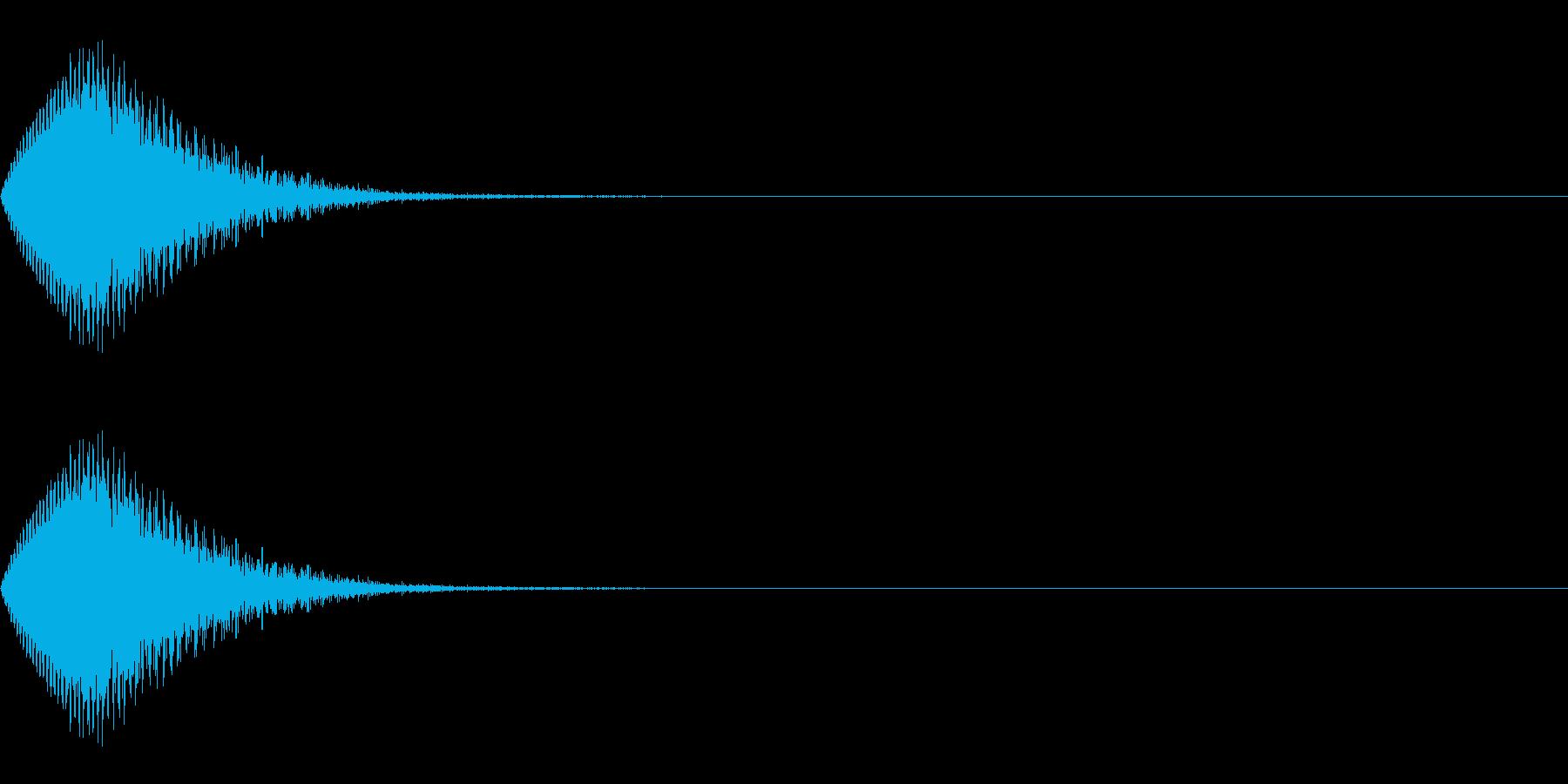 パワーダウン/ワープ/場面転換の再生済みの波形
