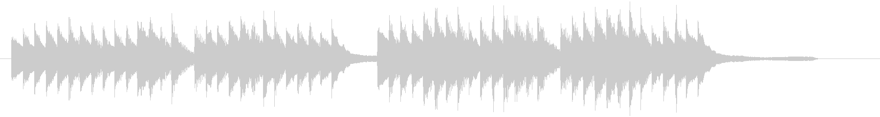 CM30秒、優しく感動的なピアノソロ13の未再生の波形