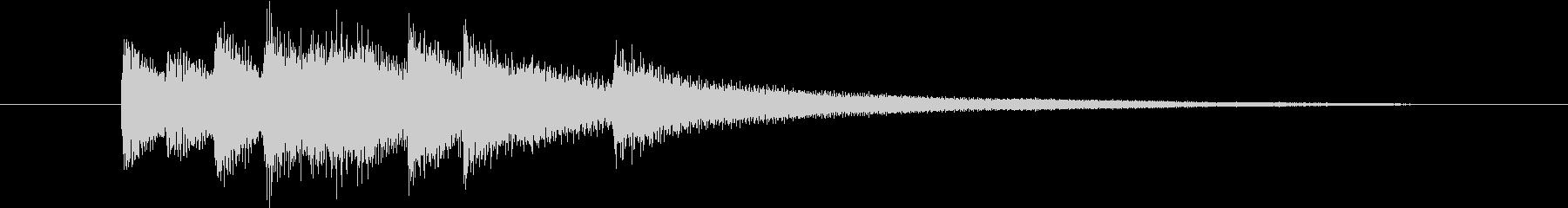 CMや映像に 温かいピアノジングルの未再生の波形