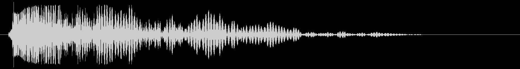 ドゥン(スネアドラム単発)の未再生の波形