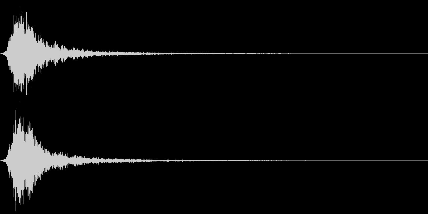 和風「シャーン」神楽鈴の単音+リバーブの未再生の波形
