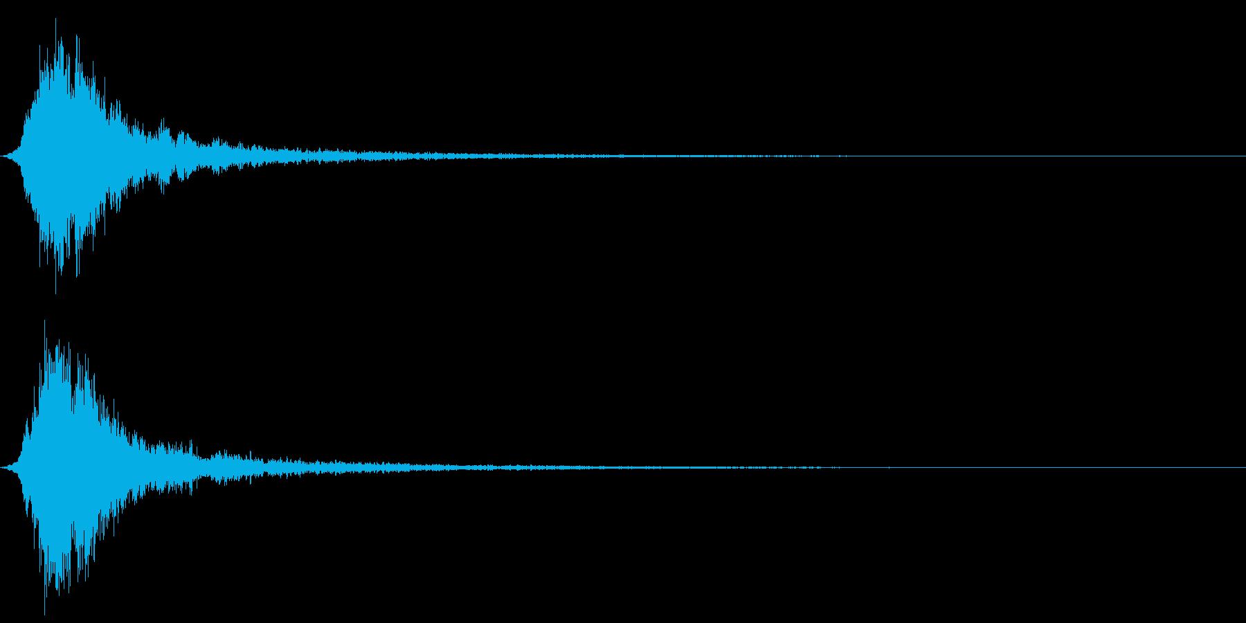和風「シャーン」神楽鈴の単音+リバーブの再生済みの波形