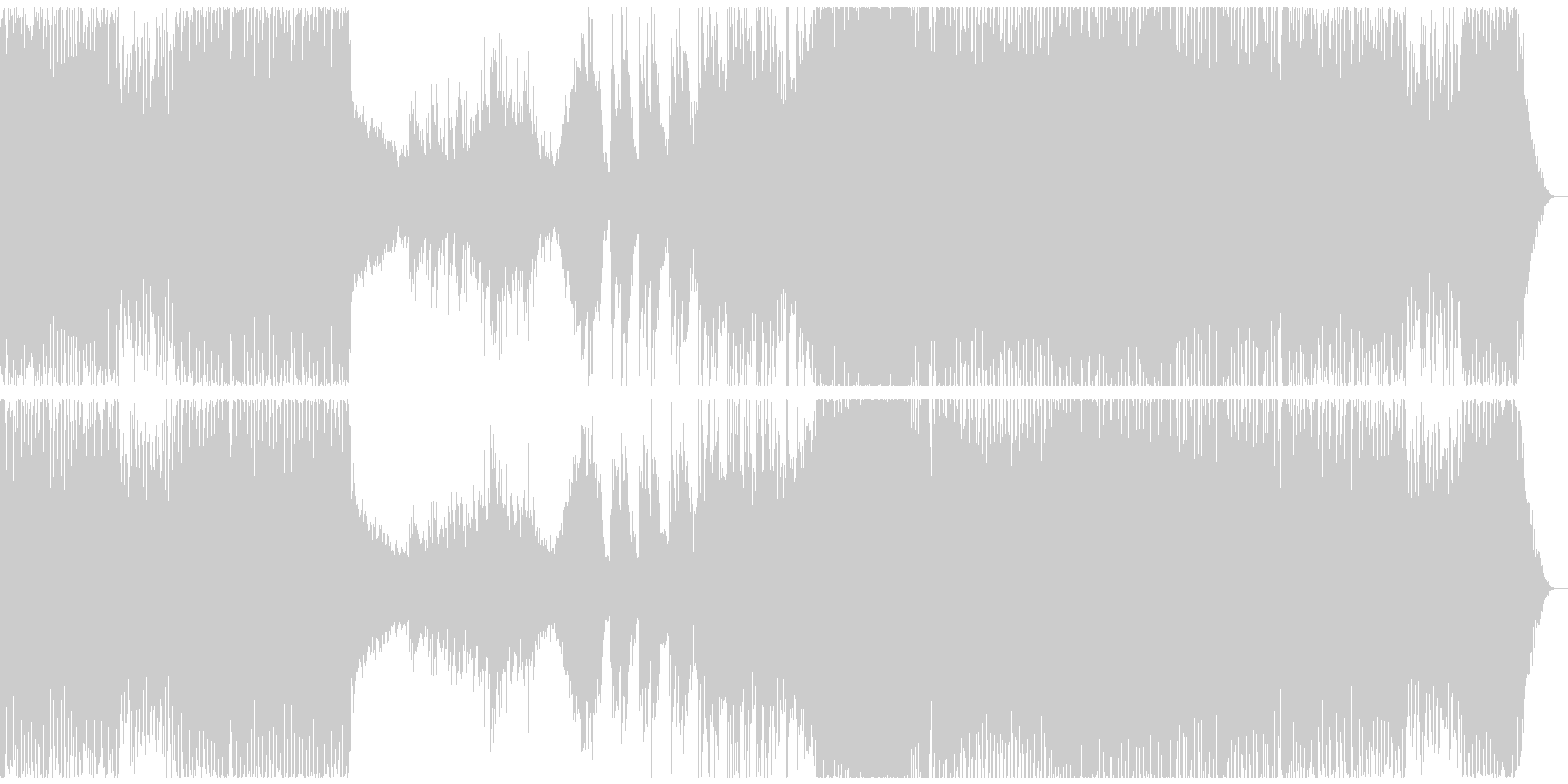 切ない心を雨に例えたアップテンポバラードの未再生の波形