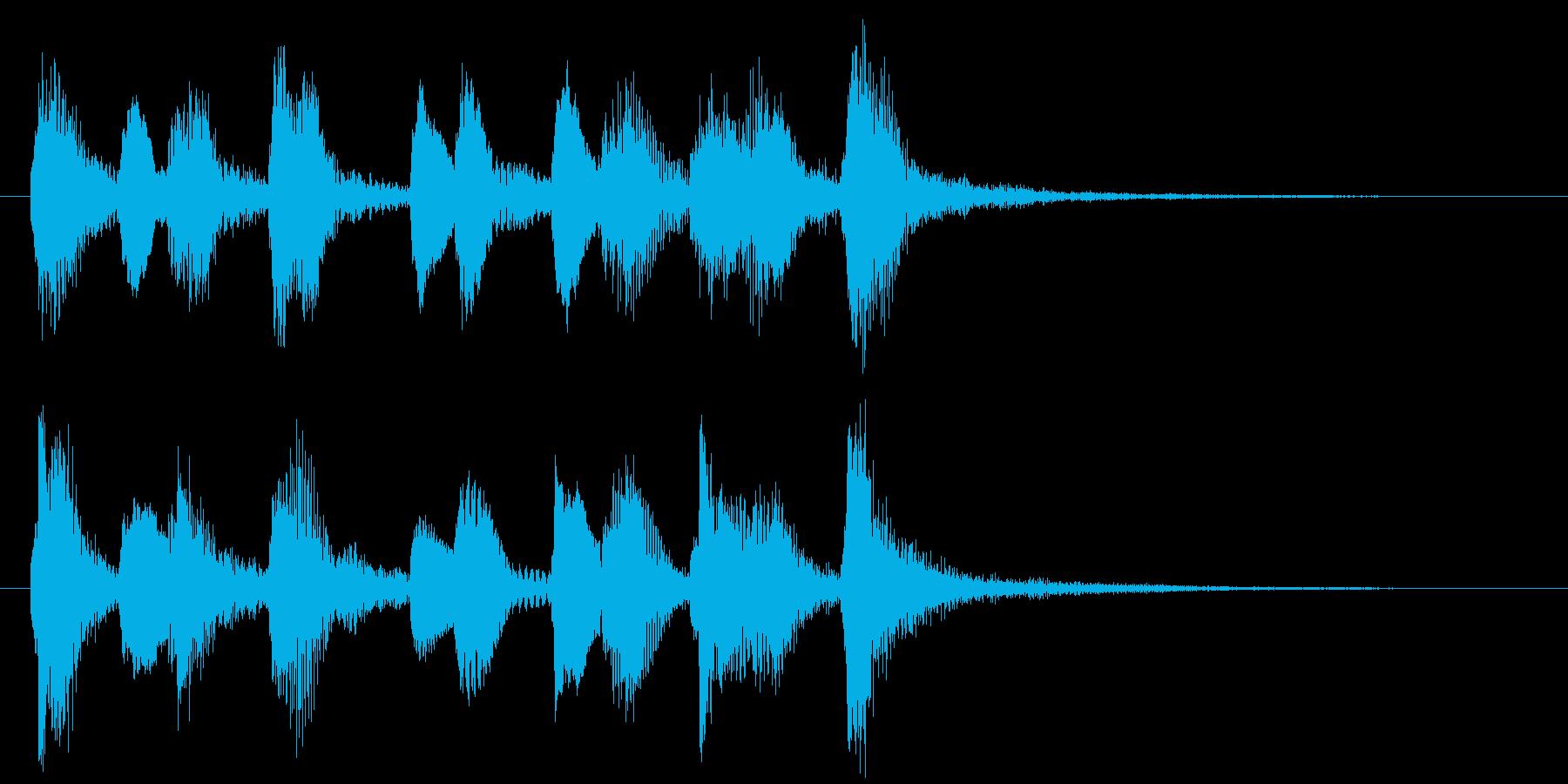 ストリングスのピチカートが可愛いジングルの再生済みの波形