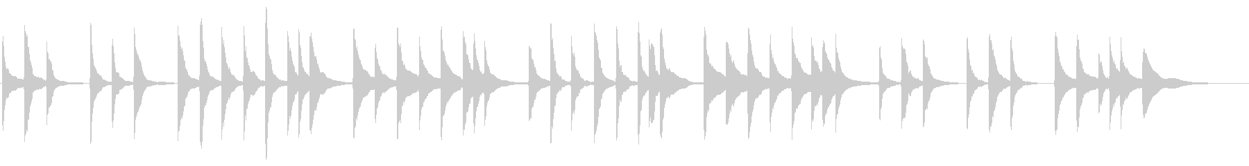 お琴 さくらさくらの未再生の波形