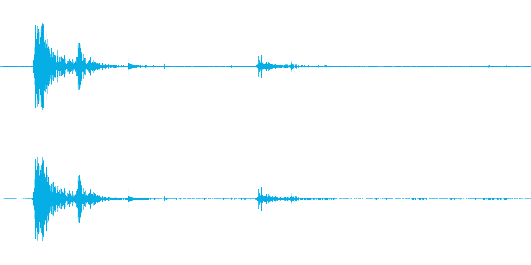 ガチャン。グラスをテーブルに置く音(激)の再生済みの波形