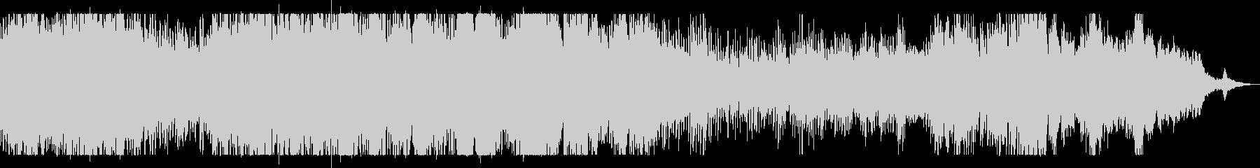 雨粒の水滴の煌めきを表現したピアノソロの未再生の波形
