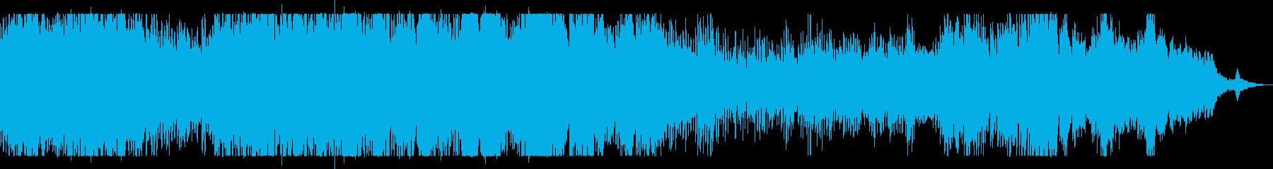 雨粒の水滴の煌めきを表現したピアノソロの再生済みの波形