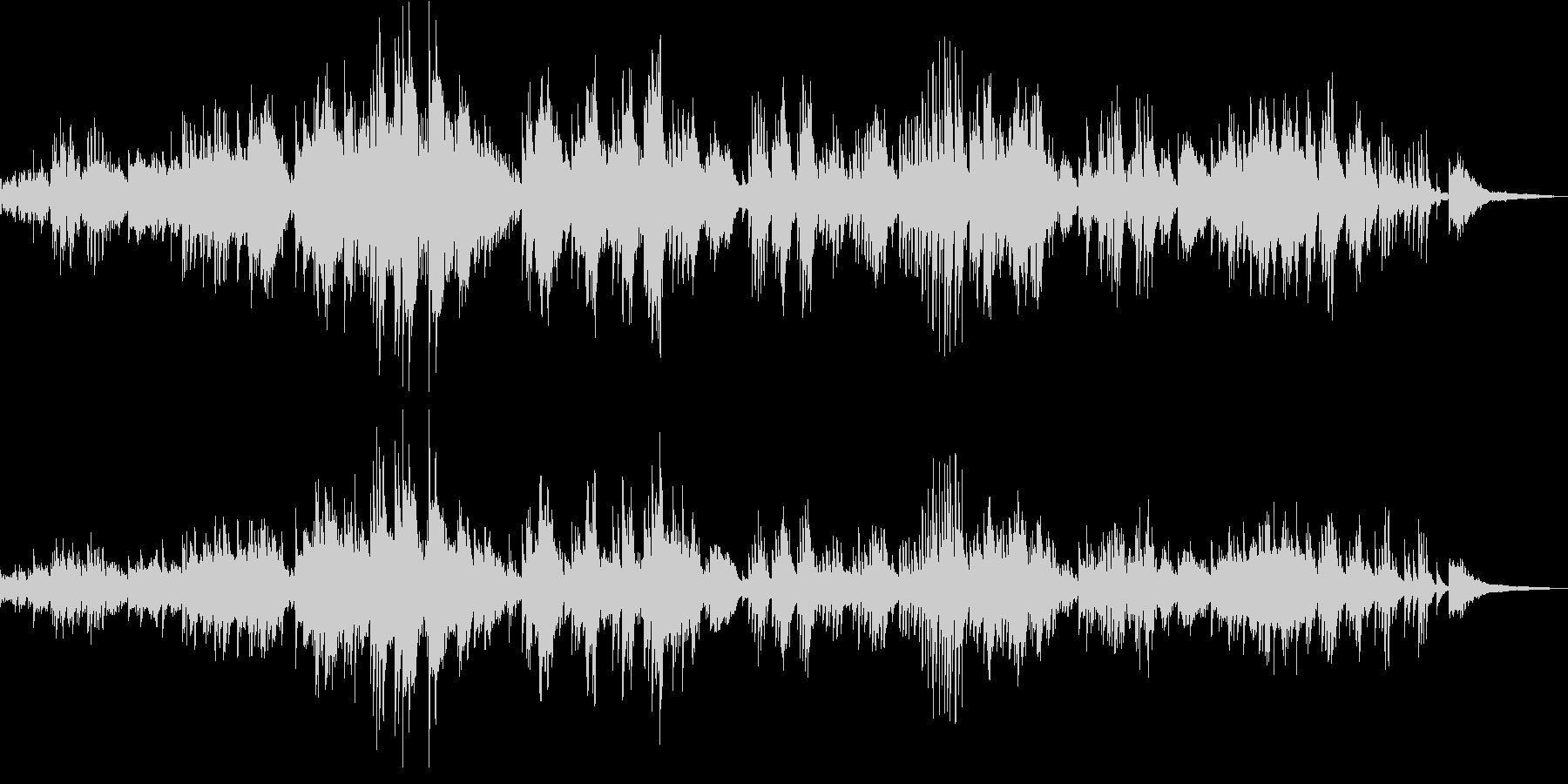 ドビュッシーが作曲したピアノ独奏曲の未再生の波形