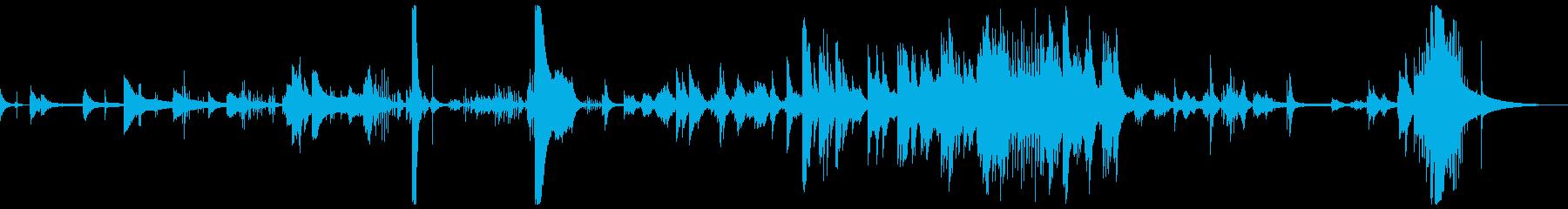 静寂の鼓動をイメージしたピアノソロの再生済みの波形