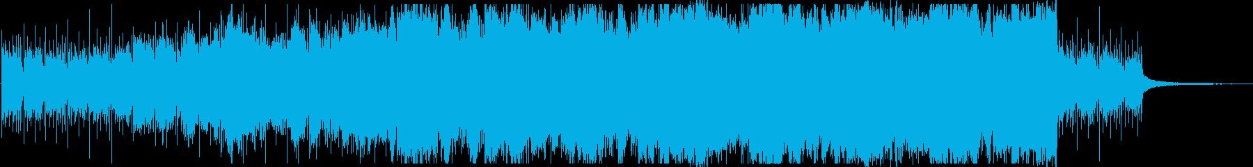 ピアノとストリングスの美しい曲の再生済みの波形