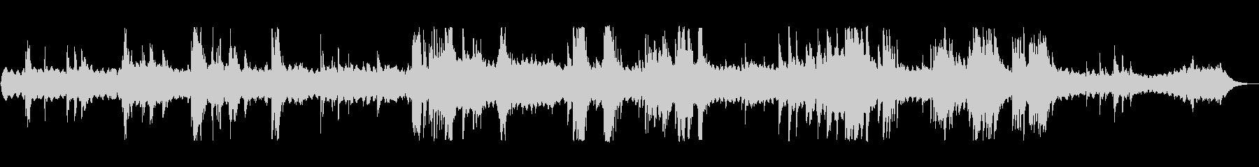 ピアノとシンセのSF風アンビエントの未再生の波形