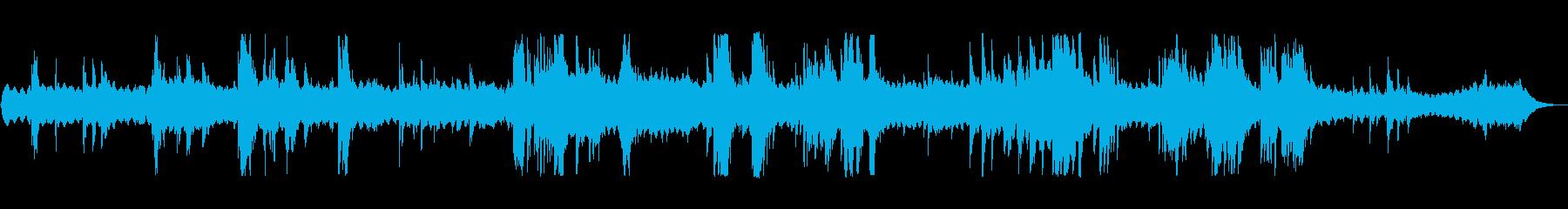 ピアノとシンセのSF風アンビエントの再生済みの波形
