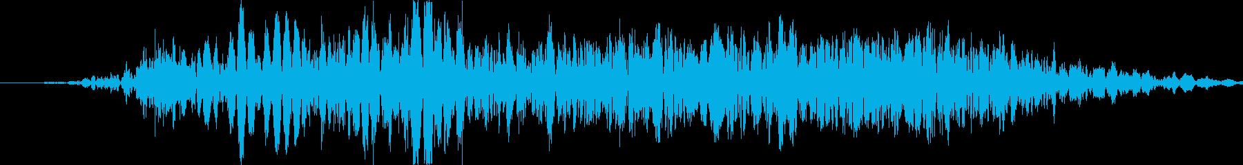 パンチやキックに重い打撃音!04Hの再生済みの波形