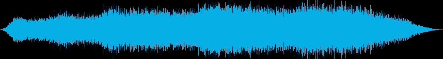 未知の惑星の探検をイメージした曲の再生済みの波形