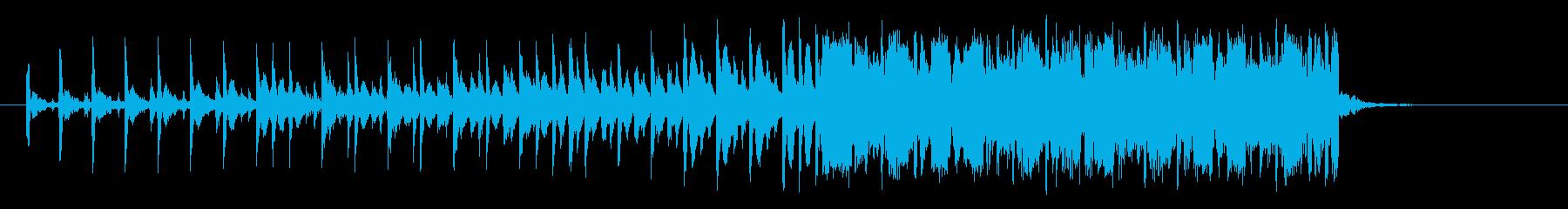 上行する期待感のあるミュージックの再生済みの波形