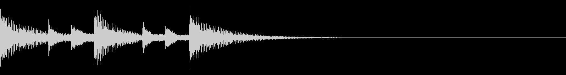 トイチックなジングルの未再生の波形