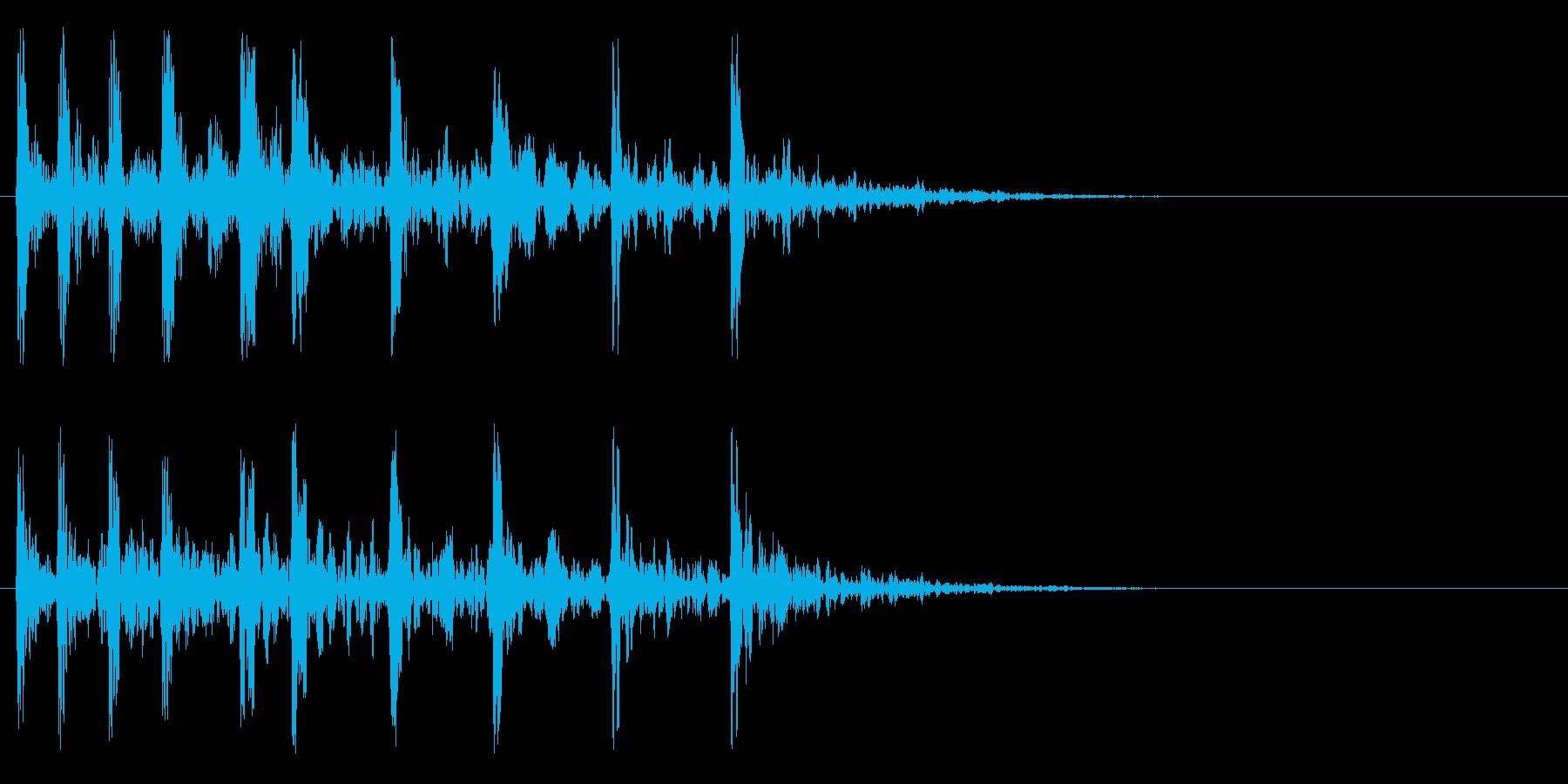 ティト、トト、トト、ト、ト、ト、ンの再生済みの波形