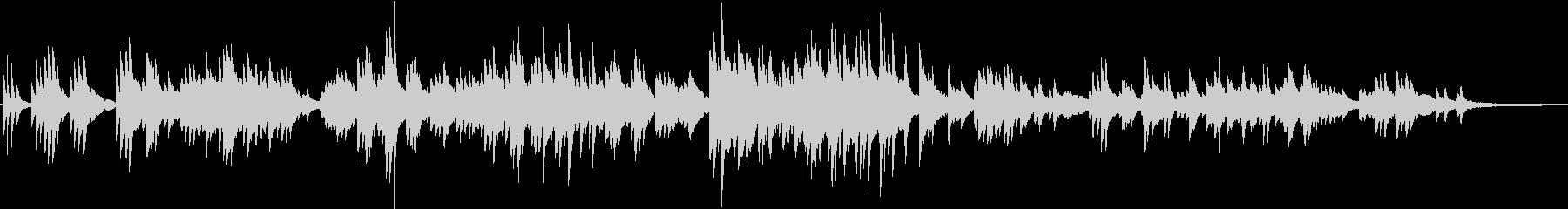 ノスタルジックで切ない 和風なピアノソロの未再生の波形