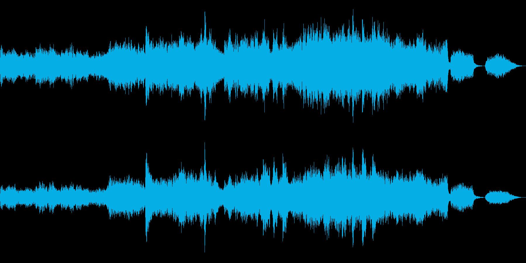 バイオリンが絡み合うドラマチックな感動曲の再生済みの波形