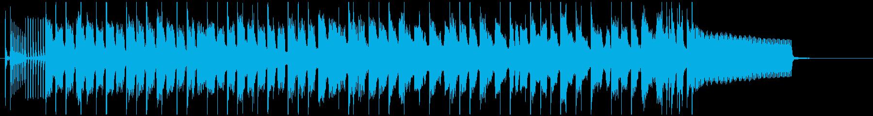 オシャレで海外ドラマっぽい日常曲の再生済みの波形