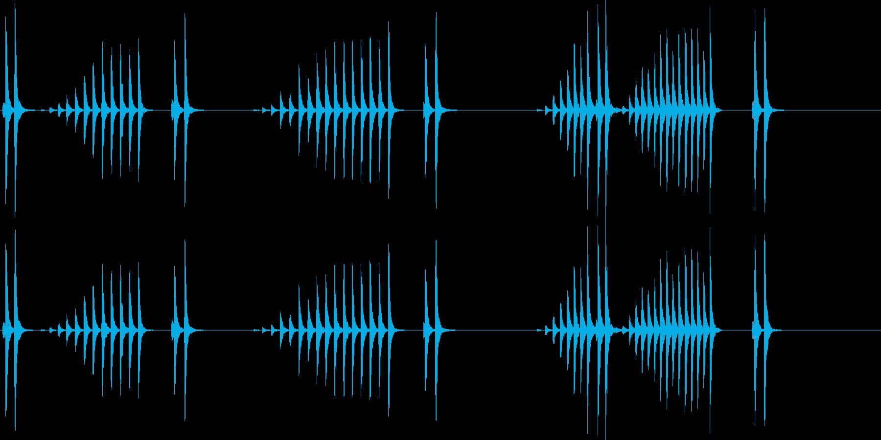 大太鼓30波音f歌舞伎情景描写和風和太鼓の再生済みの波形