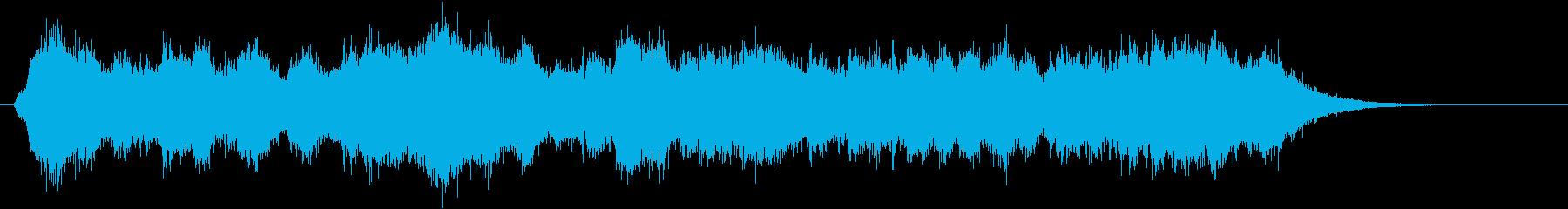 鳥の鳴き声(森、夜、ホラー)の再生済みの波形